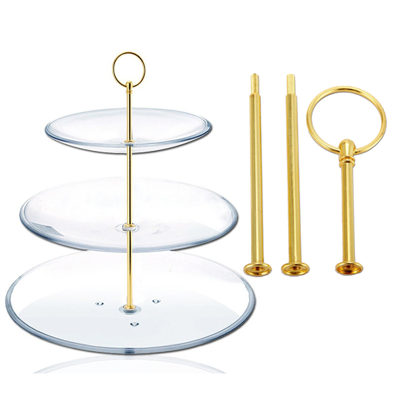 Mini Metal Rod 3 Floor Tiered Wedding Cake for Cake Stand Cake Holder Pies Sale -- LXY9