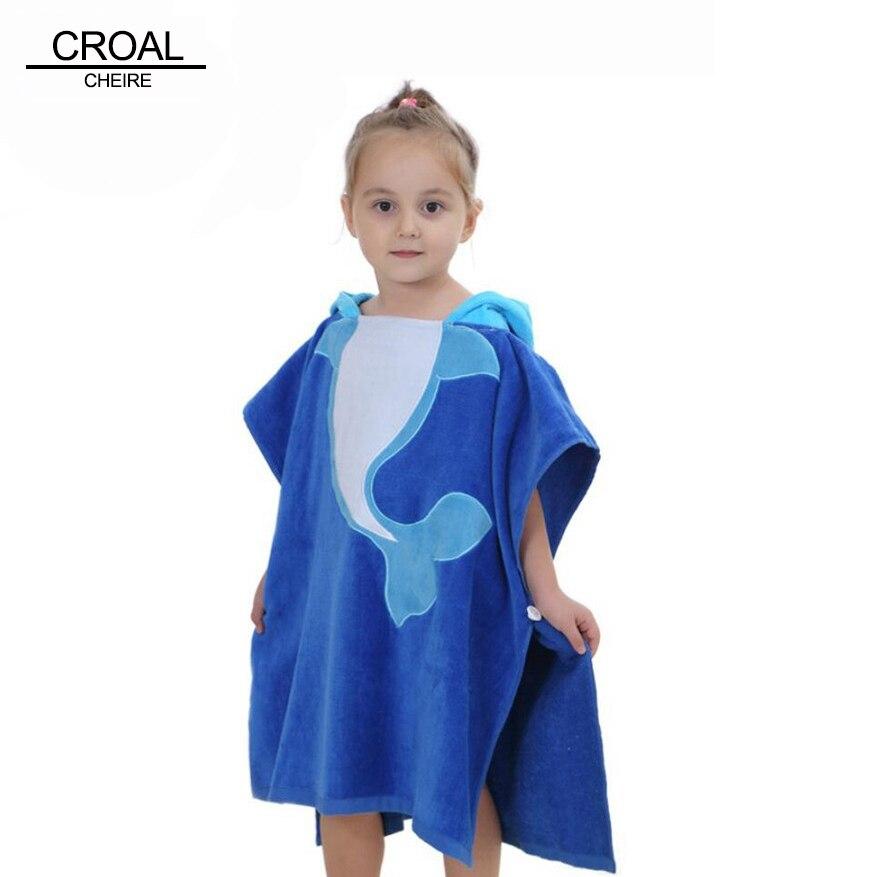 Симпатичные Дельфин бархат Животные халат пижамы детская одежда для девочек детское одеяло для мальчиков слиперы пончо с капюшоном Полоте...