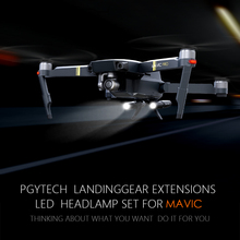 Pgytech Новый Расширенный шасси ногу Поддержка Protector расширение светодиодные фары костюм для мальчиков, футболка + штаны Замена пригодный для Mavic Pro