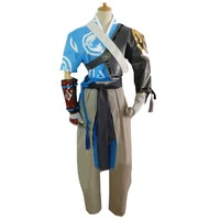 2018 OW Game Shimada Hanzo Cosplay Costume with hand covers