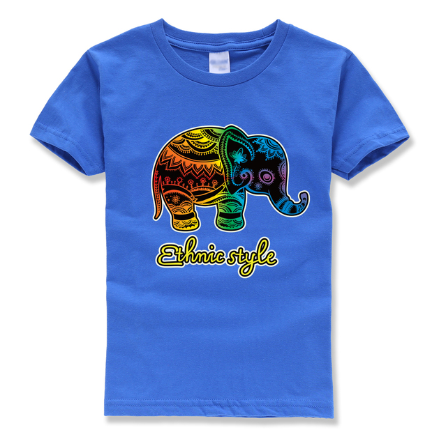 good quality t shirt kids short sleeve funny brand clothing cartoon Elephant streetwear homme t-shirts hot sale 2018 summer boy