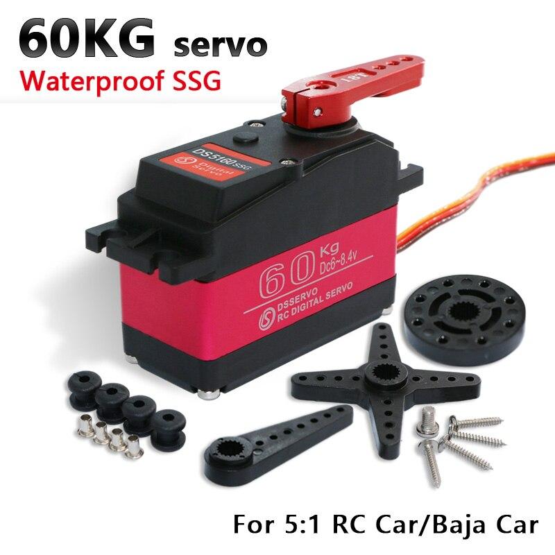1 pcs kg high torque servo 60 DS5160 5B servo Servo Digital para 1/5 HPI Baja Redcat baja SS RC carro servo compatível SAVOX-0236