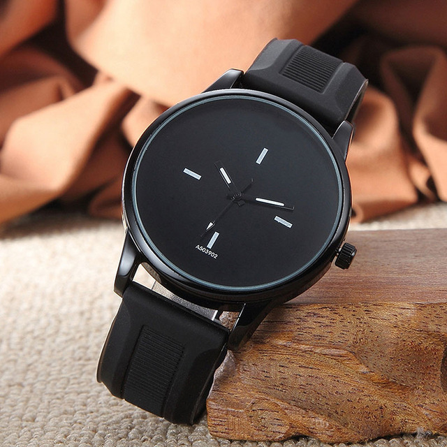 Simple Big Dial Couple Men Women Watch Delicate Lover's Quartz Casual Wristwatch
