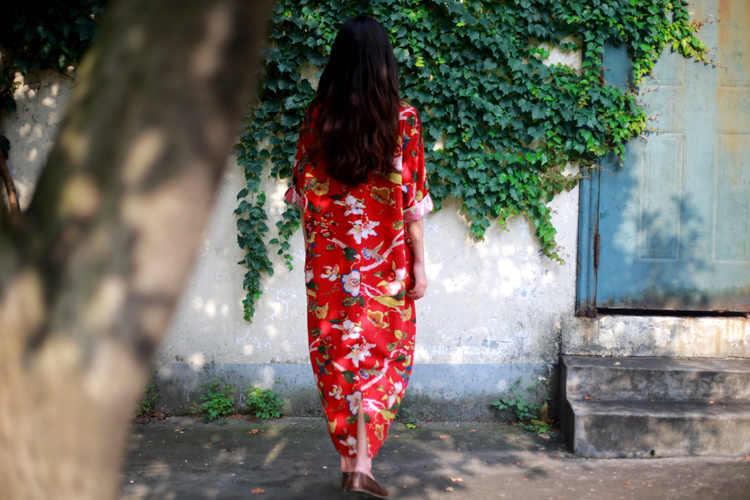 Винтажное платье из хлопка и льна с цветочным принтом и v-образным вырезом, рукав три четверти, женское свободное платье больших размеров, новинка 2019, осеннее платье