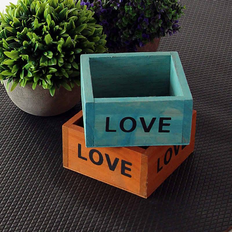 Wood Flowerpot Garden Planter Plant Pot Window Box Trough Pot Succulent Flower Bed Plant Bed Pot Flower Pots