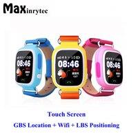 Модные Q90 GPS дети телефон позиционирования часы 1.22 дюймов Цвет Сенсорный экран WI FI SOS Смарт часы PK Q80 Q50 Q60 DHL доставка