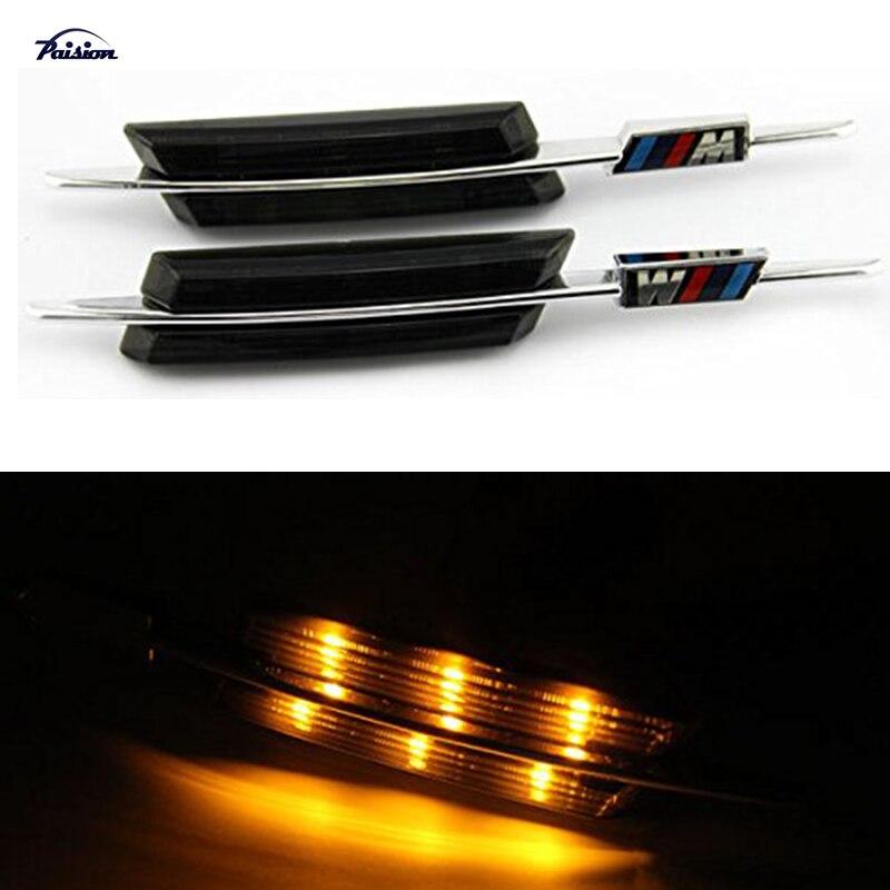 LED Smoke Side Marker Lights Turn Signals For BMW E90 E91 E92 E93 E81 E88 E60