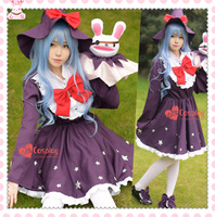 DATE A LIVE Yoshino Witch Elf Cosplay Dress Costume Hat Halloween Dress Uniform Elves Outfit Anime