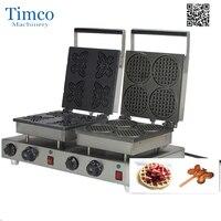 Machine à gaufres électrique commerciale chaude d'acier inoxydable de fabricant de cône de gaufre professionnelle 110/220V avec le plat fait sur commande