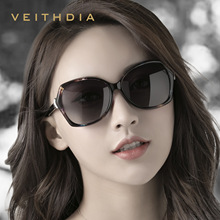 VEITHDIA 2019 Fashion Fox Diamond Women Luxury Oversized Sunglasses Elegant ocul