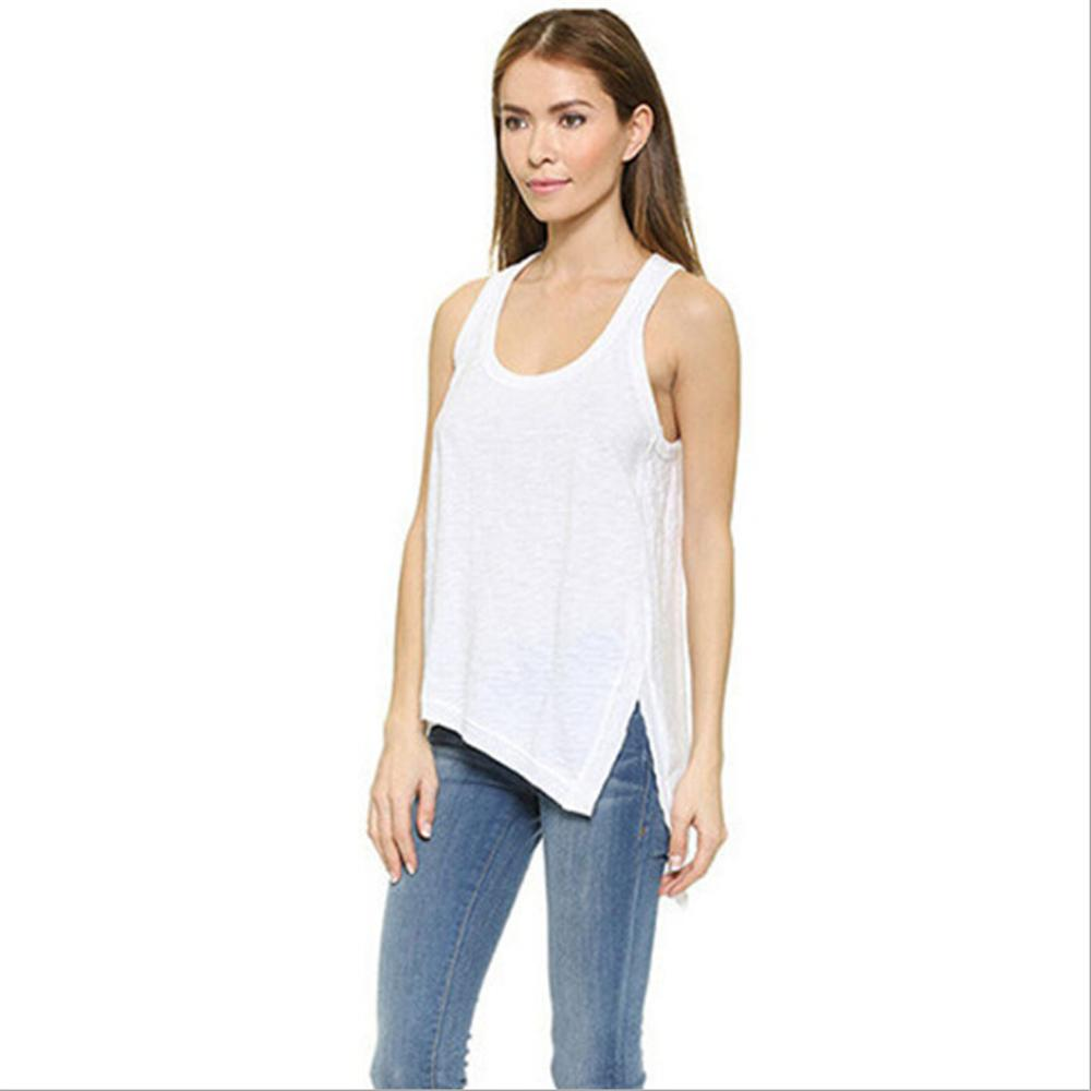 c826b603 Tank Top Women 2018 New Summer Sleeveless Shirt Sexy V-neck Cami Loose  Casual Blouses Female Tops Vest Ladies Clothing