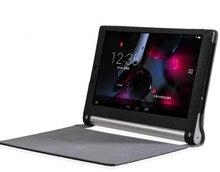 10.1 Yoga 1050F impresión de seda PU funda de cuero para Lenovo Tablet Yoga 2-1050f caja de la tableta + protector de pantalla