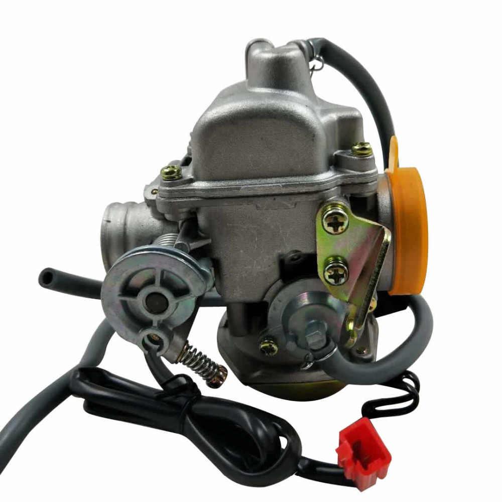 คาร์บูเรเตอร์ GY6 50cc สกู๊ตเตอร์เครื่องยนต์ 4 จังหวะ QMB139 สำหรับ Moped ATV 49cc 60cc สำหรับ SUNL BAJA ถัง NST VIVA ATM BMS REDCAT