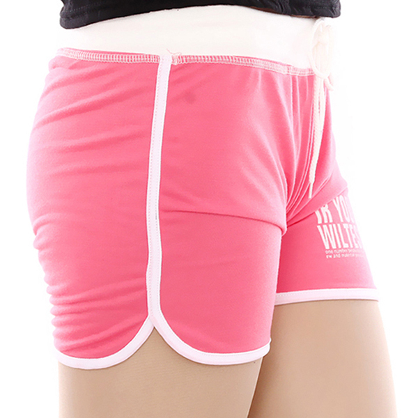 Summer Style 2017 New Arrival s Shorts Women's Cotton Blended Candy-colored Letters Printed Shorts Hot Selling KH668293