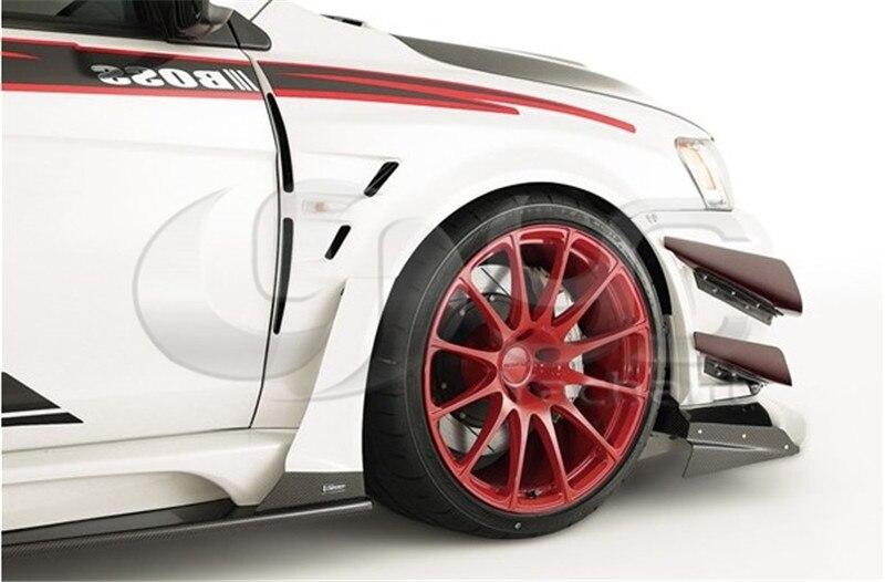 FRP полный Волокно Стекло VS широкий Средства ухода за кожей версия Стиль Средства ухода за кожей комплект подходит для 2008-2012 Mitsubishi Lancer Evo X сре...