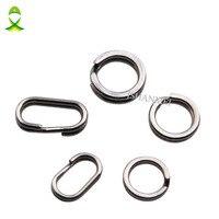 JSM 200 teile/los Edelstahl Runde Oval DOPPEL Split Ring Angelgerät Anschlüsse double loop 4mm-10mm
