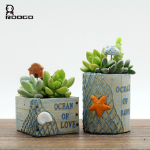 Roogo Flower Pot Europe Plant Pot Vintage Bonsai Garden Succulent Pots Home Decor Outdoor Flowerpot For Balcony Decorations