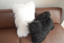 1 PC Long Hair Sheepskin Decorative For Seat Couch Car Throw Pillow Case Pillow Cover Room Pillowcase 30X50cm