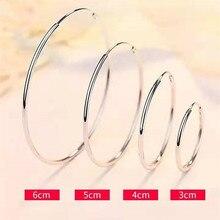 VOJEFEN 925 Sterling Silver Hoop Earrings 60mm Fashion Hoops For Womens Girls Sensitive Ears