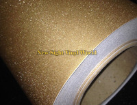 High Quality Sparkle Bling Sandy Gold Vinyl Skin Sticker Decal Bubble Free For Phone Laptop Cover Size:1.52*30M
