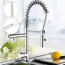 Хром двойные ручки кухня torneira Cozinha вытащить вниз раковина + жидкого мыла + крышка кран смесителя