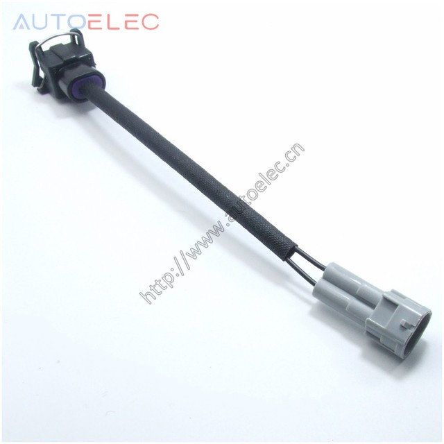 us $2 0 delphi ev1 to nippon denso male rc fuel injector wiring clips plugs wiring harness for audi vw skoda passat vag gm ford jagua in wiring GM Wiring Harness