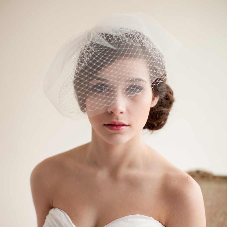 e9653371b0d5b New European Style Bridal Wedding Veil Vintage Bridal Bird Cage Veil Soft  Net Short Bridal Veil