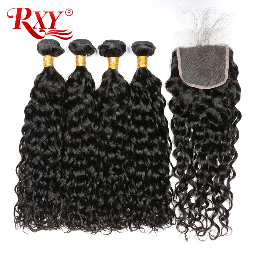 Curly Bundles With Closure Brazilian Hair Weave Bundles With Closure Human Hair 3 Bundles With Closure