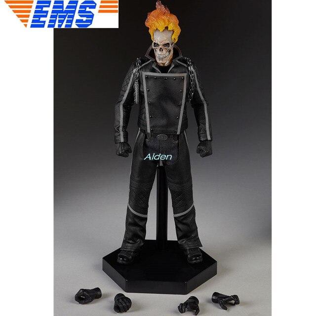 "12 ""Ghost Rider Superhero Estátua Busto Johnny Blaze Full-Length Retrato PF 1:6 Mobilidade GK Action Figure Toy CAIXA 30 CM B1083"