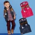 Los Bebés Del Otoño Invierno Espesar Con Capucha Niños Chaleco de Moda Chaleco de Abrigo Rompevientos ropa de Abrigo Chaqueta Niño de Buena Calidad