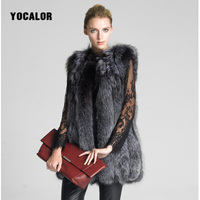 High Quality 5XL Long Faux Mink Fur Vest Coat Furry Female Jacket Winter Parka Women Thick Warm Plus Size Fox Outerwear Elegant