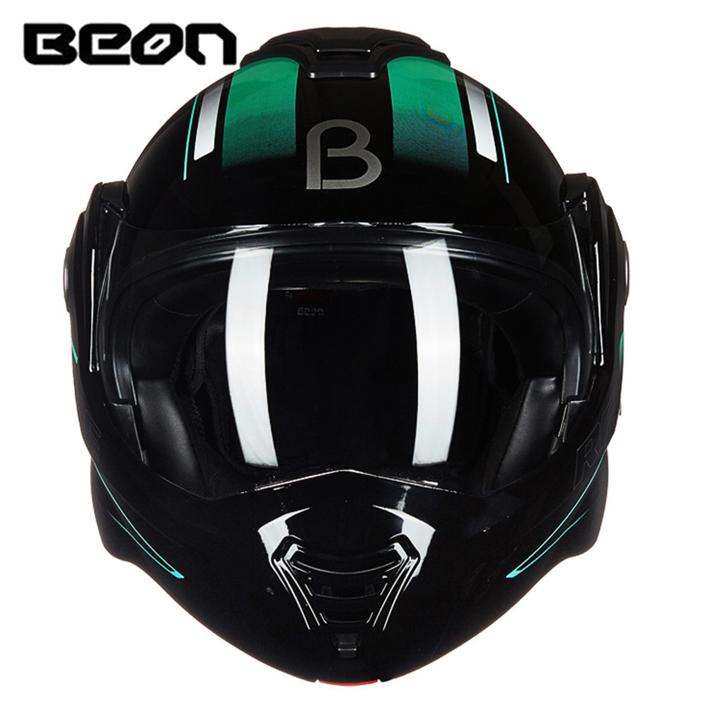 цена на BEON 180 Flip up Motorcycle Helmet Modular Open Full Face Helmet Moto Casque Casco Motocicleta Capacete Helmets ECE