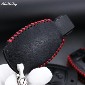 Image 5 - Genuine Leather Remote Keyless Car Key Case Cover For Mercedes Benz W203 W210 W211 AMG C E S CLS CLK CLA Key Shell Bag For Benz