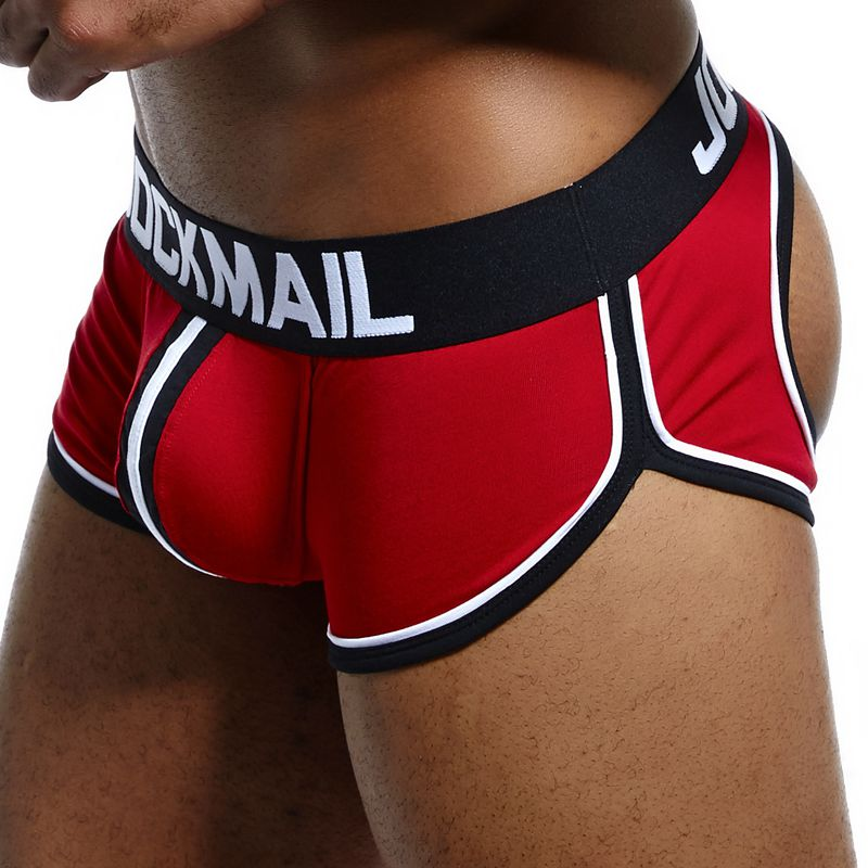 JOCKMAIL <font><b>Sexy</b></font> <font><b>Men</b></font> Underwear <font><b>Boxer</b></font> <font><b>shorts</b></font> Backless Buttocks Cotton open back Gay <font><b>Men</b></font> Underwear JockStraps cuecas Gay panties image