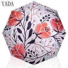 YADA Black Charm Folding designer Umbrella Rain Women uv High Quality For Womens brand Windproof Custom Umbrellas YS124