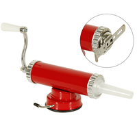 2 In One Hand Operated Sausage Meat Stuffer With Suction Base Homemade Cookie Press Mold And
