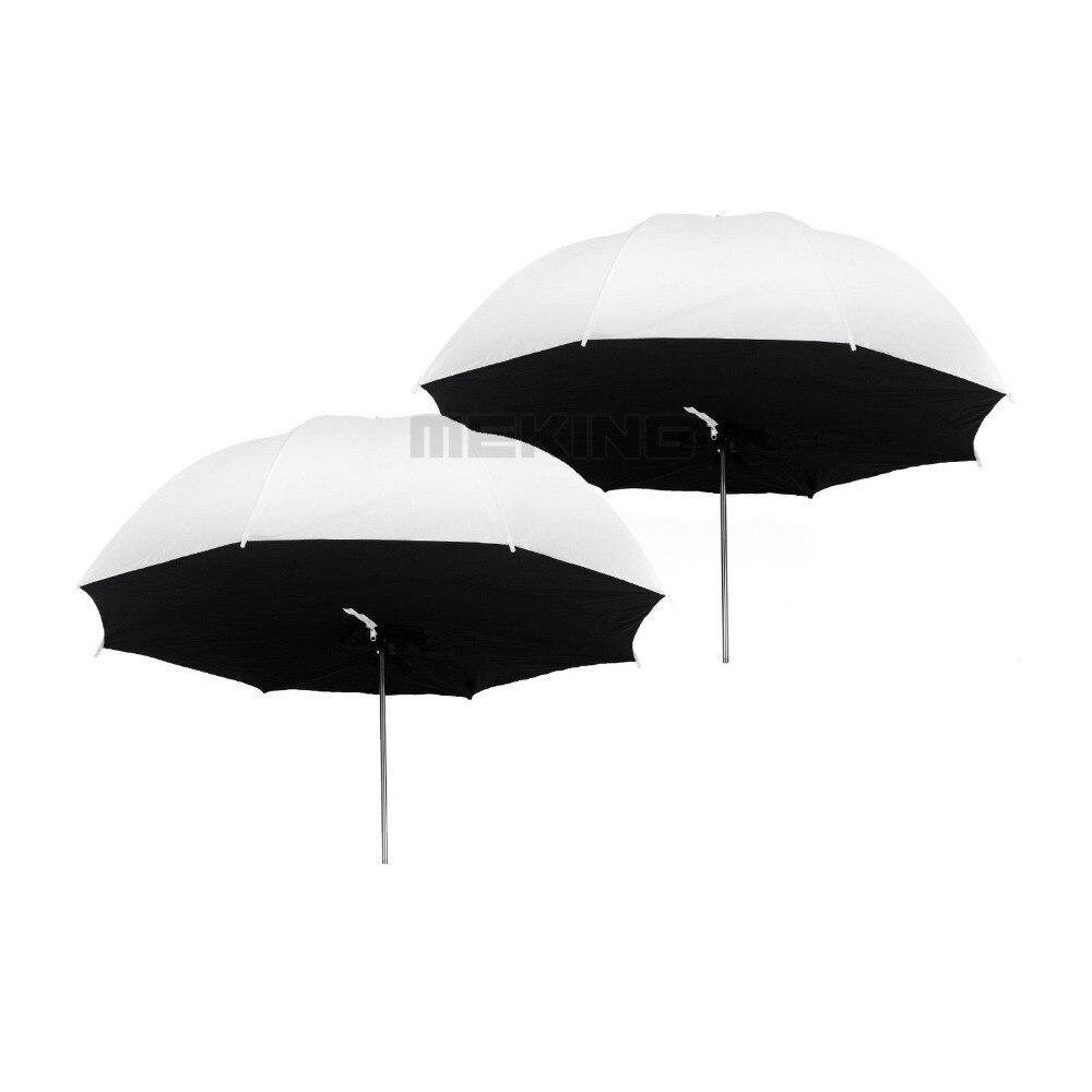 2pcs Selens 84cm 33 Translucent Umbrella photo studio Lighting Umbrellas softbox 2in1 kit for photographic light