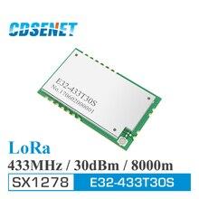 לורה SX1278 433MHz rf מודול 1w ארוך טווח משדר CDSENET E32 433T30S UART SMD 30dBm 433 mhz IOT משדר מקלט