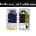 Top  Quality Middle Frame For Samsung Galaxy Note 5  N920 Mid  Bezel Metal Frame Housing Chassis replacement phone parts