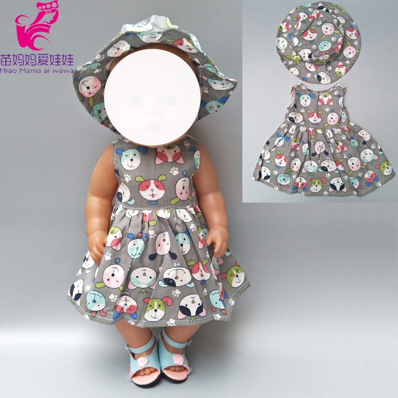 Doll Dress Fit For 43cm  Baby Doll Reborn Babies Clothes And 18inch Girl  Doll Clothes(China)