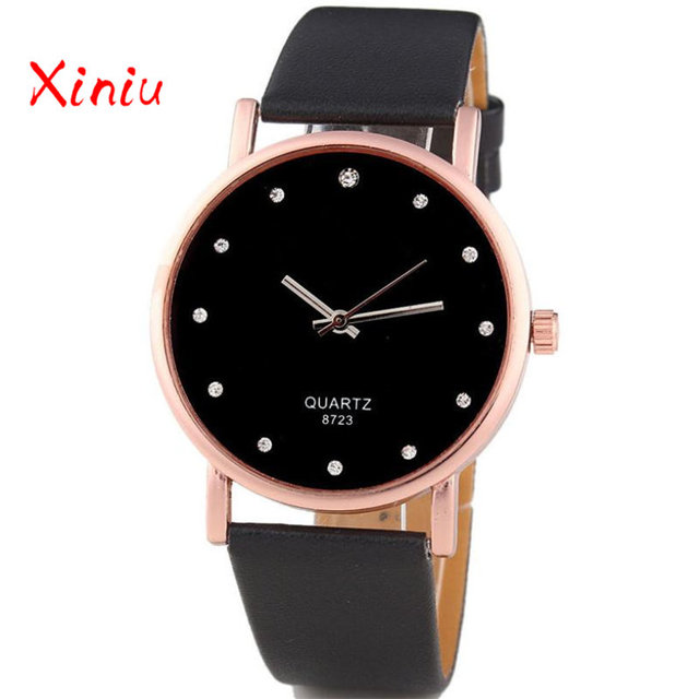Women Wrist Watches Female Zegarek Damski Ladies Fashion Rhinestone Pu Leather Analog Quartz Watch Clock reloj mujer 2018 New