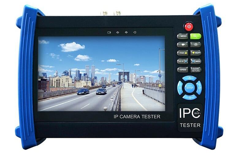 7 inch  IP camera CCTV tester monitor IP TVI CVI AHD SDI analog HD 1080P cameras testing cable scan onvif PTZ  12V2A POE output 4 3 inch four in one hd cctv tester monitor ahd cvi tvi cvbs analog cameras testing 1080p 960p 720p ptz audio 12v