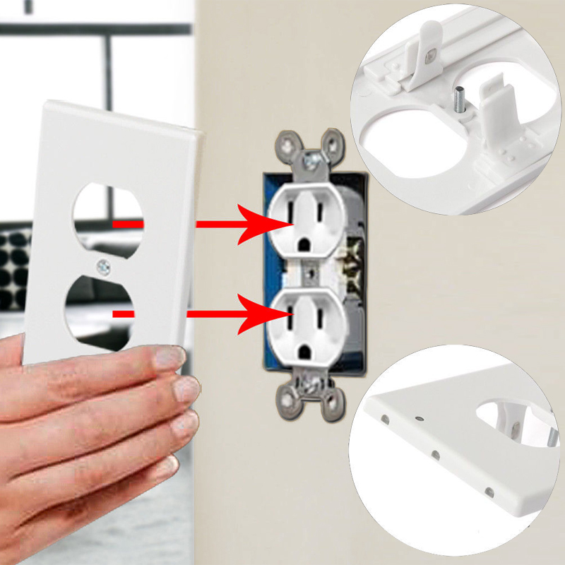 Image 5 - Kohree 5pcs Wall Outlet Cover Plate with LED Night Lights, Safety Light Sensor Plug Cover plate Socket Switch Cover for Hallway-in Night Lights from Lights & Lighting