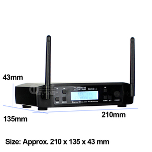 Image 3 - GLXD24 GLXD4 Professional UHF Wireless Microphone System Beta58a Handheld Mic Dual Channels Cordless Digital Receiver For Church