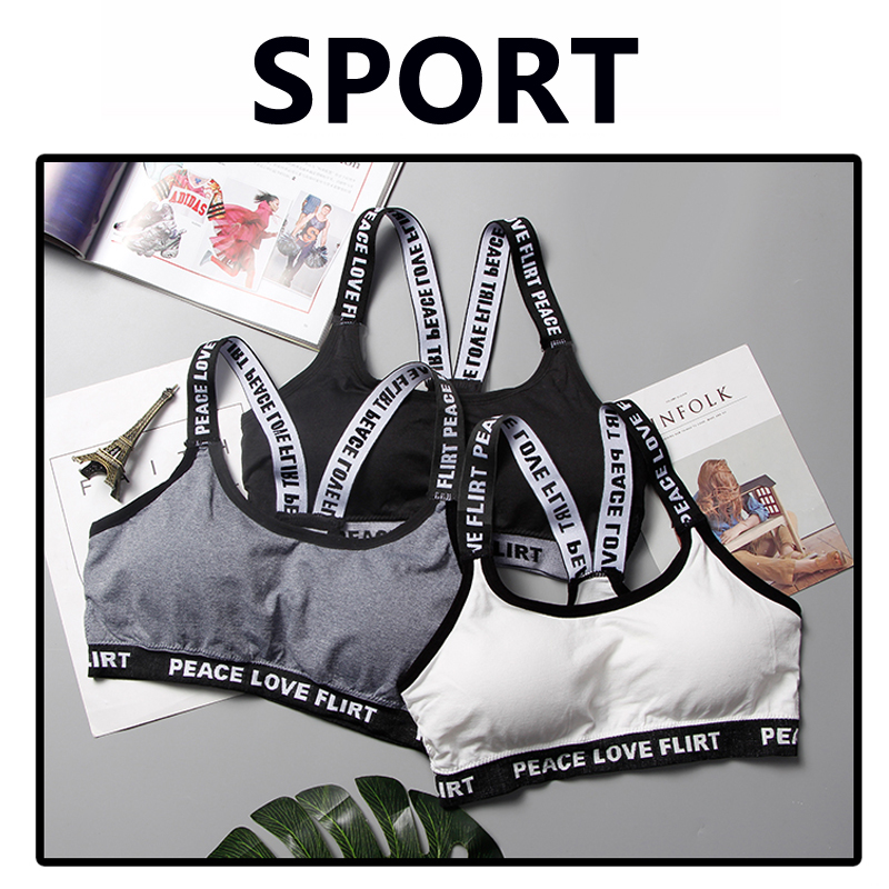 a39f14448e8c4 SEXYWG Top Sports Bra Fitness Free Size Letter Yoga Bra Women Gym Running  Push Up Top Female Sport Bra Bh Workout Underwear ABCD-in Sports Bras from  Sports ...