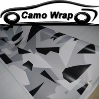 Grey Black White Camouflage Film Vinyl Car Wrap Vehicle Truck Motorcycle Camo Body Wrapping Sticker Decal With Air Drain