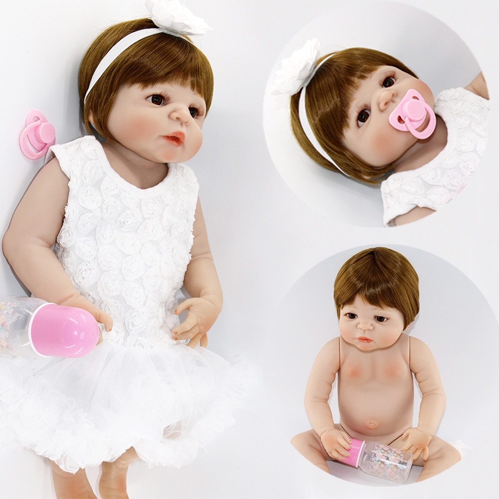 23Full Silicone Bebes Reborn Baby Girl Princess Dolls Lifelike Newborn Babies Alive Doll for Child Bath Shower Bedtime Toy Doll23Full Silicone Bebes Reborn Baby Girl Princess Dolls Lifelike Newborn Babies Alive Doll for Child Bath Shower Bedtime Toy Doll