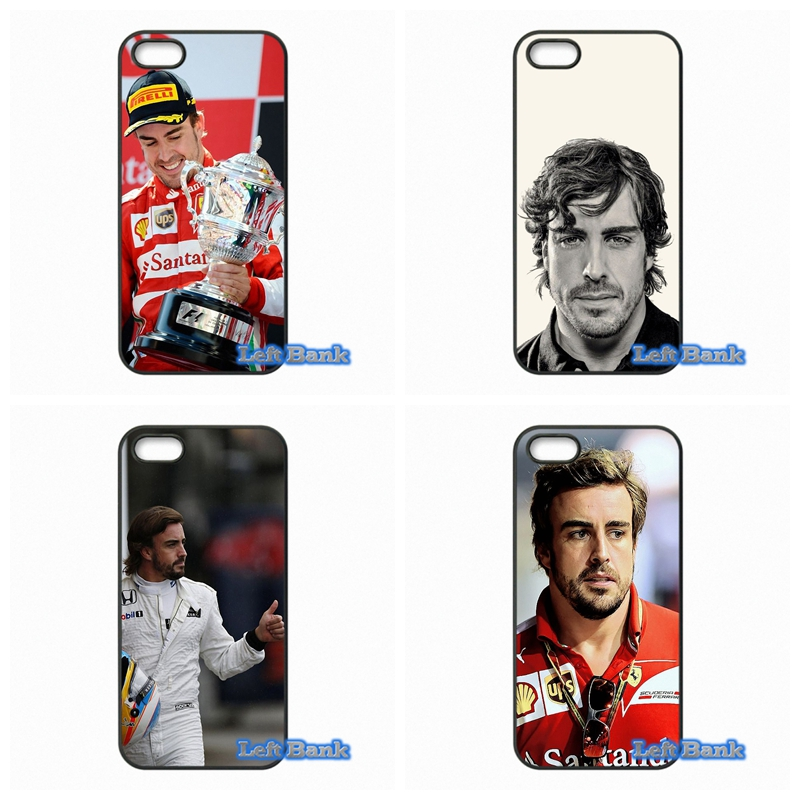 F1 driver Fernando Alonso Phone Cases Cover For Apple iPhone 4 4S 5 5S 5C SE 6 6S 7 Plus 4.7 5.5 iPod Touch 4 5 6