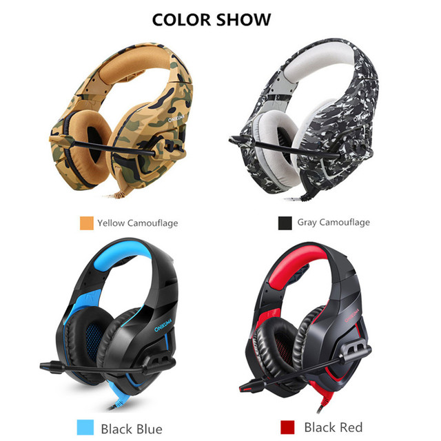 PC Gaming Headset Bass Headphones MIC for PS4 New Xbox 1 5