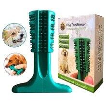 Чистящая палка зубная щетка для собак натуральный резиновая жвачка игрушки Укус игрушки для собак ПЭТ жевательная игрушка Щенок прорезывание зубов щетка собачки; домашние питомцы уход за полостью рта